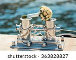 wedding bouquet with roses on... | Shutterstock . vector #363828827