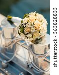 wedding bouquet with roses on... | Shutterstock . vector #363828833
