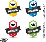 exclusive label and sign  ... | Shutterstock .eps vector #363835757