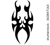 tribal tattoo vector design... | Shutterstock .eps vector #363847163