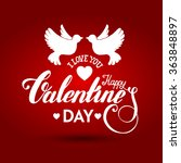 valentines day vintage...   Shutterstock .eps vector #363848897
