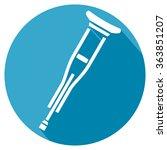 crutch flat icon | Shutterstock .eps vector #363851207