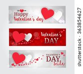 happy valentines day banner... | Shutterstock .eps vector #363854627