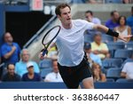 Small photo of NEW YORK - SEPTEMBER 3, 2015: Grand Slam Champion Andy Murray in action during US Open 2015 second round match at Billie Jean King National Tennis Center in New York