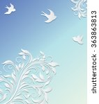 abstract vector background with ... | Shutterstock .eps vector #363863813