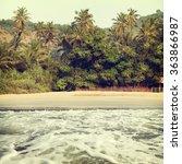tropical beach of a summer day...   Shutterstock . vector #363866987