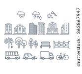 transportation and city traffic ... | Shutterstock .eps vector #363867947