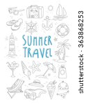 summer travel and tourism... | Shutterstock .eps vector #363868253