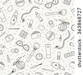 hand drawn doodle background.... | Shutterstock .eps vector #363868727