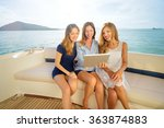 technology and vacation. luxury ... | Shutterstock . vector #363874883