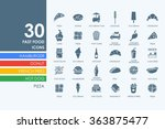 set of fast food icons | Shutterstock .eps vector #363875477
