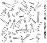 tools set background | Shutterstock .eps vector #363877523