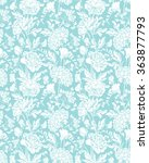 seamless pattern with realistic ... | Shutterstock .eps vector #363877793