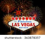 welcome to fabulous las vegas... | Shutterstock . vector #363878357