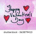 happy valentines day note | Shutterstock . vector #363879413