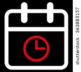 Date Time Vector Icon. Style I...