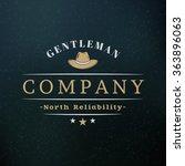 gentleman hat. vintage retro... | Shutterstock .eps vector #363896063