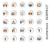 business and management icons... | Shutterstock .eps vector #363898127