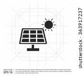 vector solar energy panel icon | Shutterstock .eps vector #363917237