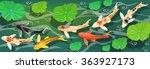 carps koi fish under water.... | Shutterstock .eps vector #363927173