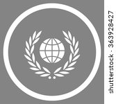 global emblem vector icon.... | Shutterstock .eps vector #363928427