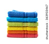 Pile Of Rainbow Colored Towels...