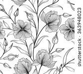 floral seamless pattern. flower ... | Shutterstock .eps vector #363948023