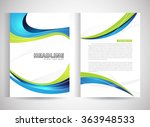 abstract vector modern flyers... | Shutterstock .eps vector #363948533