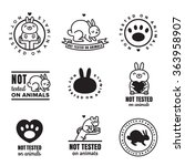 not tested on animals cute... | Shutterstock .eps vector #363958907