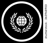 global emblem vector icon.... | Shutterstock .eps vector #363968903