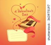 valentine day retro cartoon...   Shutterstock .eps vector #363975197