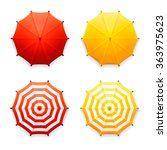 vector set of four isolated red ...
