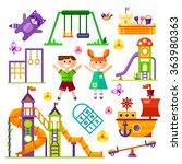 Children's  Playground. Teeter...