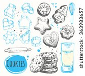 sketch set with figure forms... | Shutterstock .eps vector #363983657