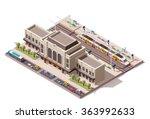 vector isometric infographic... | Shutterstock .eps vector #363992633