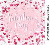 valentines day greeting card... | Shutterstock .eps vector #363995183