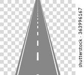 straight road on transparent... | Shutterstock .eps vector #363996167