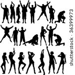 silhouette people. raster... | Shutterstock . vector #36399973