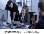 police officers working at... | Shutterstock . vector #364002263