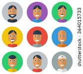people flat icons collection ... | Shutterstock .eps vector #364015733
