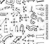 hand drawn doodle seamless... | Shutterstock .eps vector #364032863