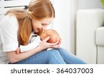 happy family. mother plays and... | Shutterstock . vector #364037003