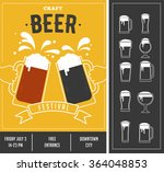 beer festival  event poster and ... | Shutterstock .eps vector #364048853