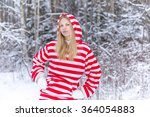 young woman in winter morning | Shutterstock . vector #364054883