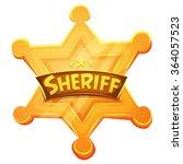 sheriff marshal star gold medal ... | Shutterstock .eps vector #364057523
