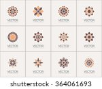 geometric logo template set.... | Shutterstock .eps vector #364061693