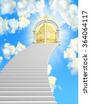 the gates of paradise in the... | Shutterstock . vector #364064117