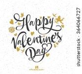 valentines day vintage... | Shutterstock .eps vector #364066727