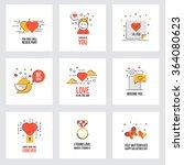 set of flat line design...   Shutterstock .eps vector #364080623
