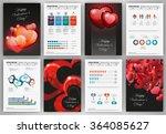 valentine's day vector set of... | Shutterstock .eps vector #364085627